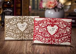 Red Wedding Invitations Wholesale Gold Red Wedding Invitations Elegant Laser Cut Wedding