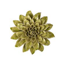 amazon com imax 64196 isabella small ceramic wall decor flower