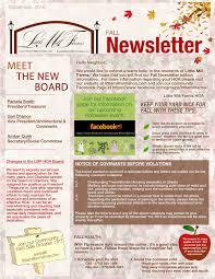 fall newsletter u2013 september 2016 u2013 little mill farms hoa