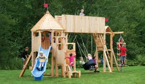 decorating frolic wooden swing sets for outdoor play with wooden