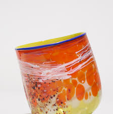Chihuly Vase 101 Dale Chihuly Chrome Lemon Soft Cylinder With Mars Brown