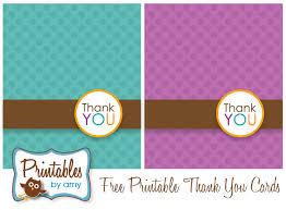 Thank You Card Designs Free Printable Polka Dot Thank You Cards Free Printable Free