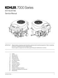 kohler 7000 series shop manual carburetor gasoline