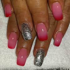 images of pink and silver nails cerene