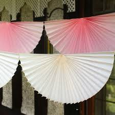 tissue paper fans large tissue paper fan garland assorted colours pipii
