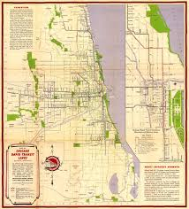 Seattle Bus Route Map by Sweet Vintage Map Shows Chicago Rapid Transit Lines In 1946