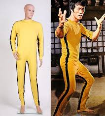 the game of death bruce lee jumpsuit cosplay costume custom made