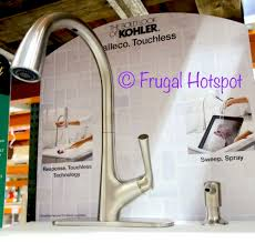 kohler touchless kitchen faucet costco sale kohler malleco touchless pull faucet 199 99