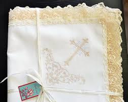 Baptism Blanket Personalized Baptism Blanket Blue Baby Blanket Personalized Blanket