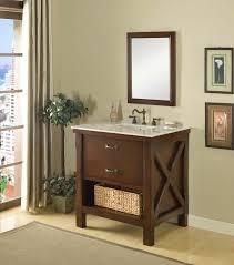 White Cottage Bathroom Vanity by J U0026 J International 32 Inch Single Bathroom Vanity With Carrera
