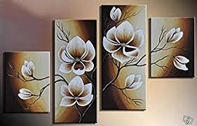 home decoration painting amazon com 100 hand painted wood framed oil wall art warm day