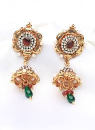 jhumka earrings online shopping shop gorgeous stones jhumka earrings earrings online shopping
