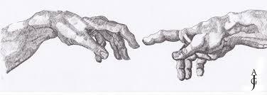 study of hands u2013 after michelangelo u0027s the creation of adam u2013 j