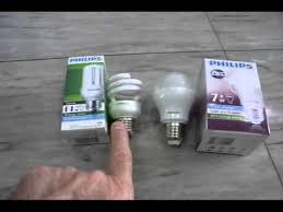 led vs cfl light bulbs youtube