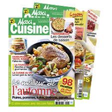 magasine de cuisine abonnement magazine maxi cuisine abobauer com
