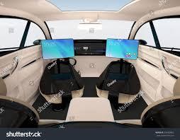 family car interior autonomous car interior design concept new stock illustration