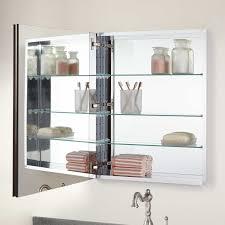 Bernstein Recessed Deco Aluminum Medicine Cabinet Medicine - Recessed medicine cabinet rough opening