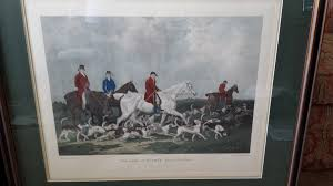 i have these prints entitled the meet at blagdon engraved by