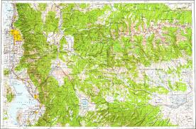 Map Of Provo Utah Download Topographic Map In Area Of Salt Lake City Provo