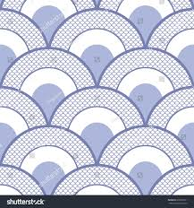 fishscales seamless pattern filled japanese halfcircle stock