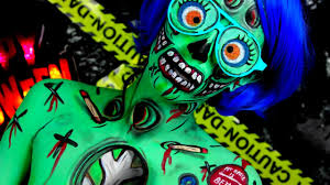 cartoon pop art zombie makeup halloween tutorial youtube