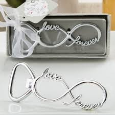 wedding favors bottle opener infinity design silver metal bottle opener favors