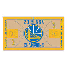 golden state warriors 2015 nba champions court runner floor mat