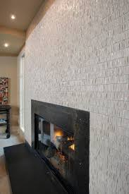 white tile fireplace surround round designs
