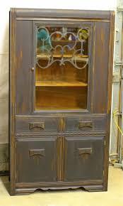 laurel u0027s attic black vintage buffet and china cabinet sold