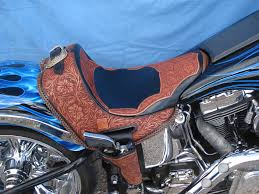 leather motorcycle accessories custom handcrafted saddle seats gunslinger leather motorcycle