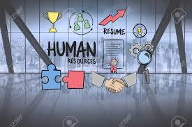 bureau des ressources humaines composite numérique de texte de ressources humaines entouré de