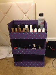 nail polish stand made from a cardboard box diy crafts