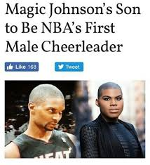 Magic Johnson Meme - magic johnson s son to be nbas first male cheerleader like 168 tweet