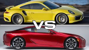 lexus turbo coupe porsche 911 turbo vs lexus lc 500 youtube