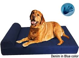 Memory Foam Dog Bed Head Rest Pillow Durable Orthopedic Memory Foam Dog Bed For Larger