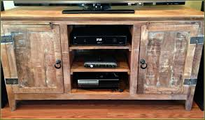 Wall Mounted Tv Cabinet Design Ideas Rustic Reclaimed Wood Media Cabinet With Av Shelves Of Dazzling