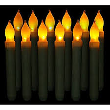 led taper candles battery operated with timer wax