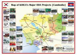 Map Of Cambodia Map Of Koica U0027s Major Oda Projects Cambodia Koica Cambodia Office