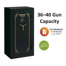 Wall Mounted Gun Safe Armorguard 24 Gun Fire Resistant Electronic Lock Safe Matte Black