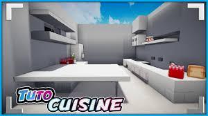cuisine minecraft ment faire une grande cuisine moderde dans minecraft design poubelle