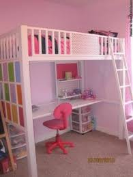 loft bed with desk underneath little tykes pinterest lofts