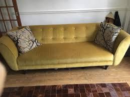 dfs mikado mustard yellow retro sofa in sheffield south