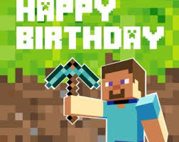 minecraft backdrop minecraft birthday card picture by bombcrop birthday party