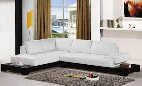 Modern Microfiber Sectional Sofas by Sofa 3 Piece Modern Reversible Tufted Bonded Leather Sectional