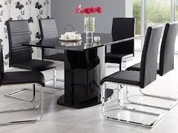 Kitchen Chairs Furniture Kitchen Chairs Furniture Rectangle Black Glass Top Dining