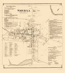 smyrna map city map smyrna delaware landowner beers 1868