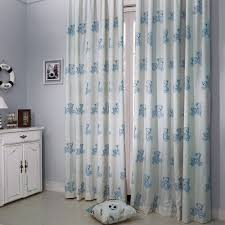 Childrens Nursery Curtains by Country Blue Bear Embroidery Kids Curtain Kids Curtains