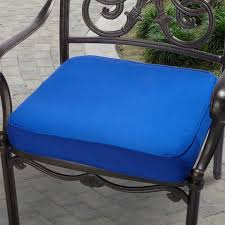 indoor outdoor 20 chair cushion with sunbrella fabric solid