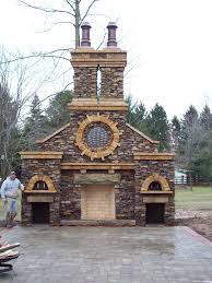 Backyard Fireplace Plans by Outdoor Fireplace With Pizza Oven Outdoor Fireplace Thinking A