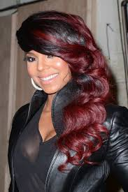 how to add colour chunks to hairstyles 17 burgundy hair color ideas celebrity burgundy hairstyles